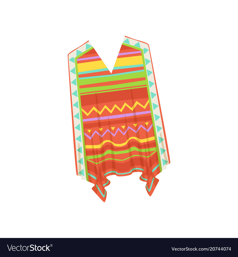 Poncho traditional mexican clothes