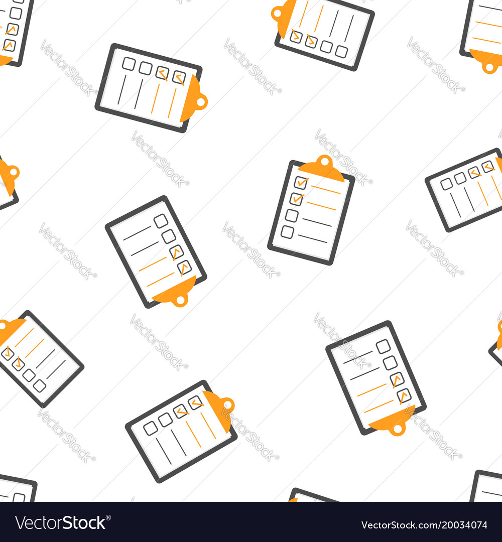 To do list seamless pattern background business