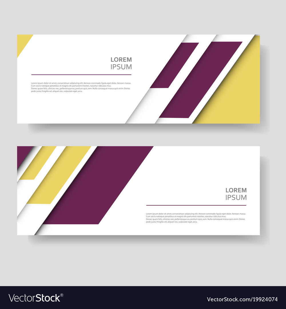Two abstract banner design with modern color line