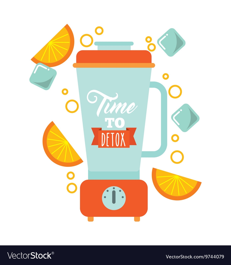 detox blender icon smoothie and juice design vector image