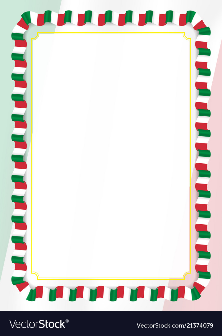 Frame And Border Of Ribbon With Italy Flag Vector Image