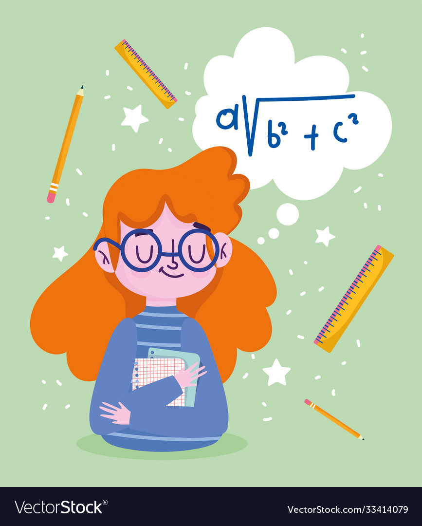 Happy teachers day cartoon teacher papers ruler
