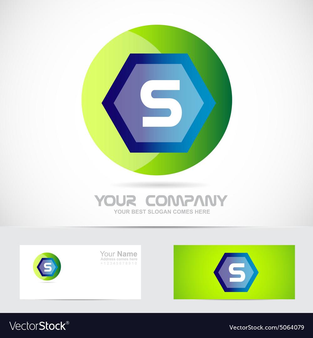 Letter S green ball sphere logo