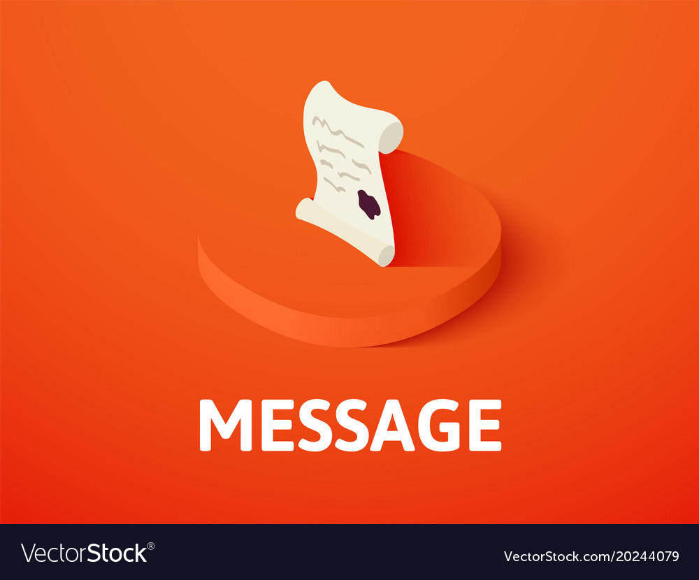 Message isometric icon isolated on color