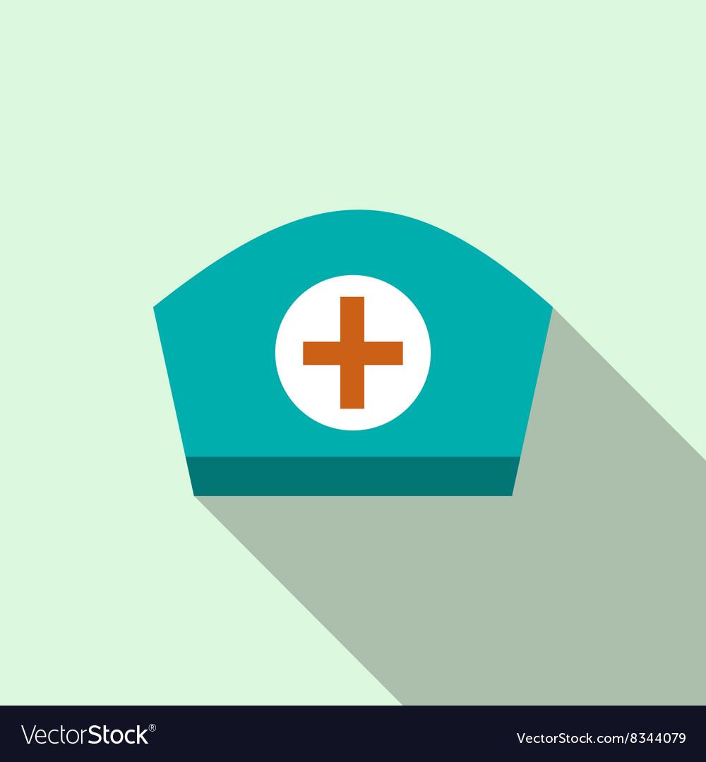 Nurse cap icon flat style vector image