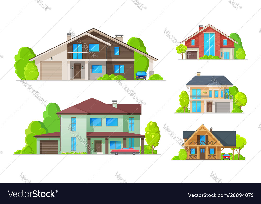 Private houses residential real estate buildings