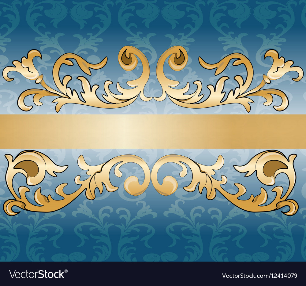 Royal imperial classic ornament damask invitation vector image stopboris Images