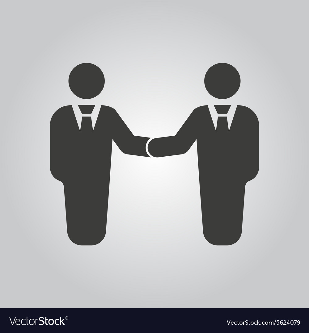 The handshake icon Partnership and negotiation