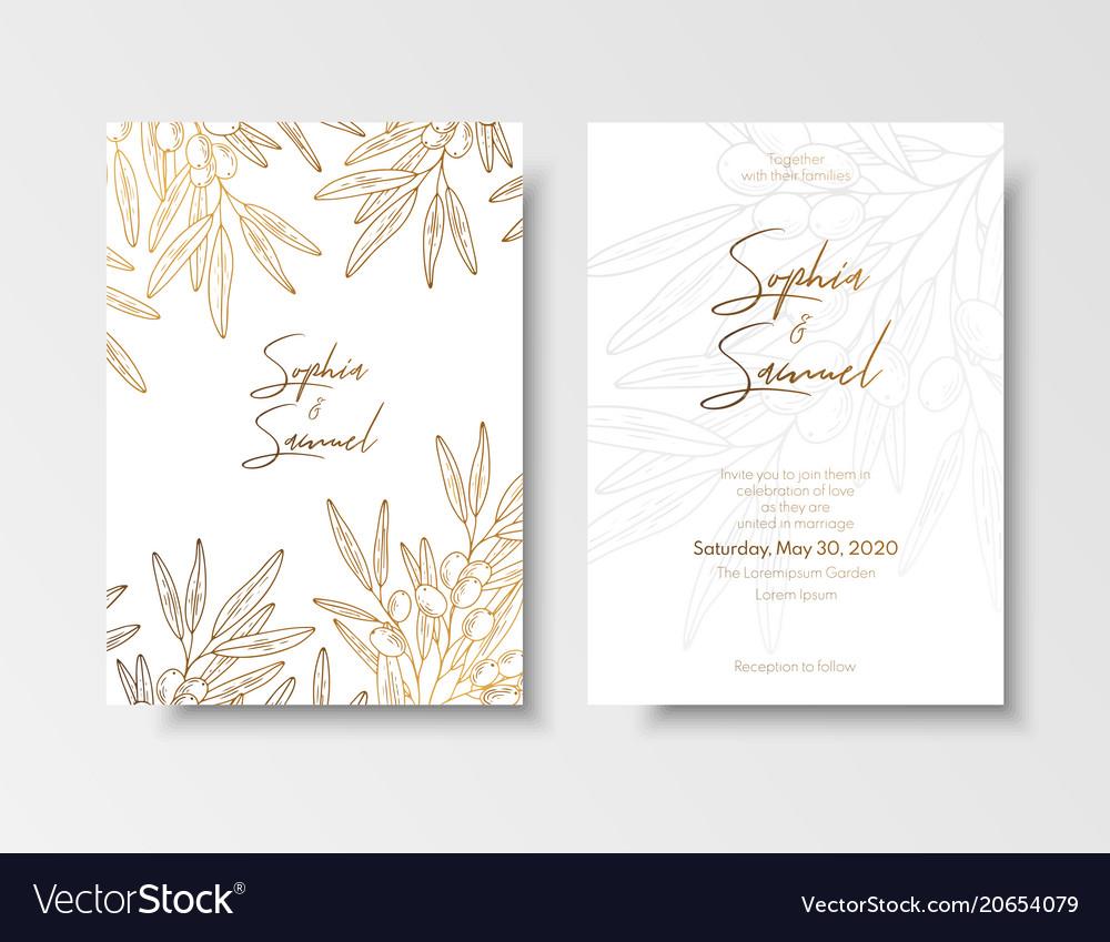 Wedding vintage invitation save the date card
