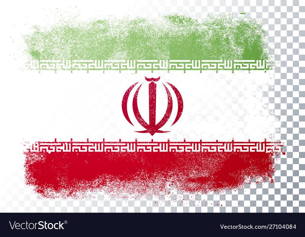 Distortion grunge flag iran
