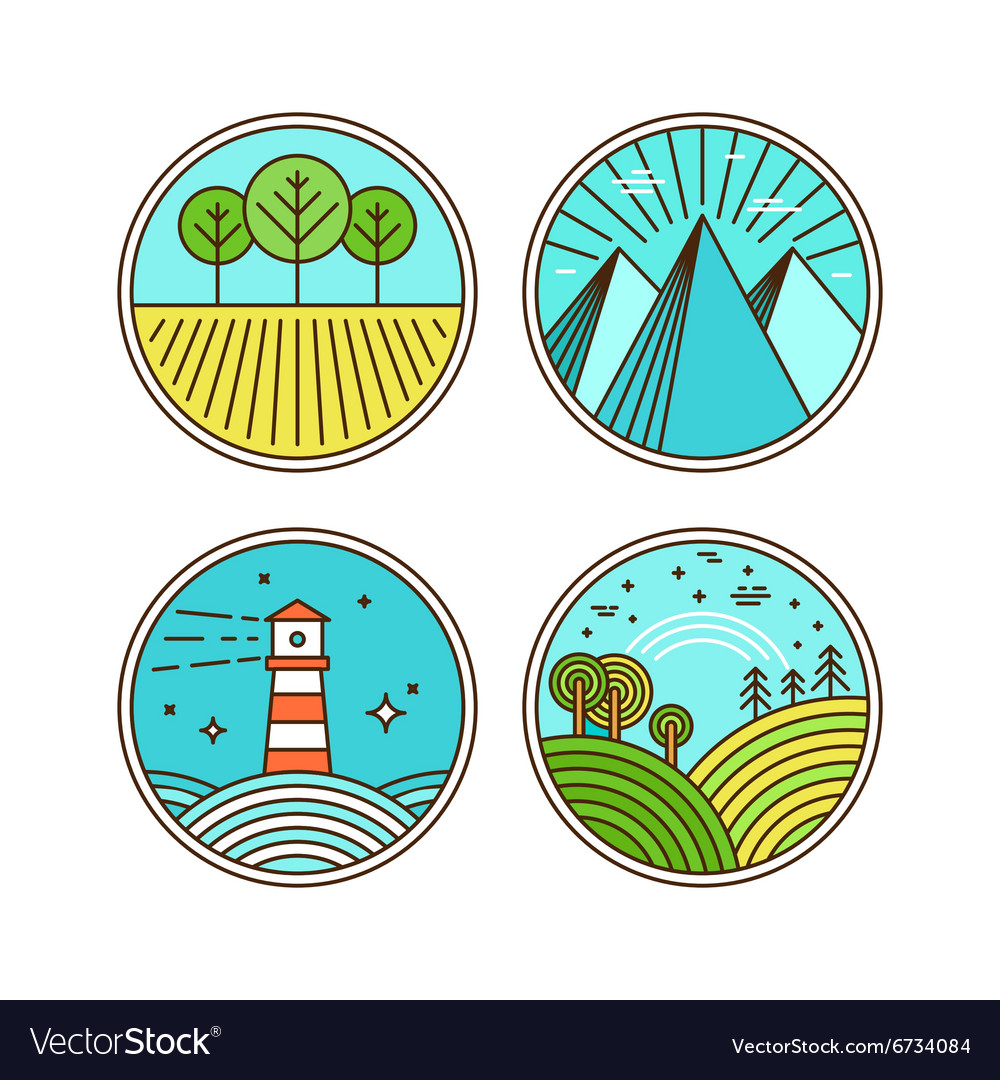 Icons and logo design elements