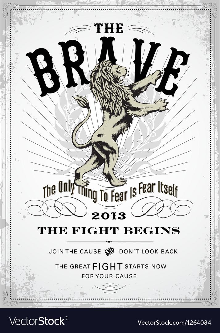 VIntage lion poster