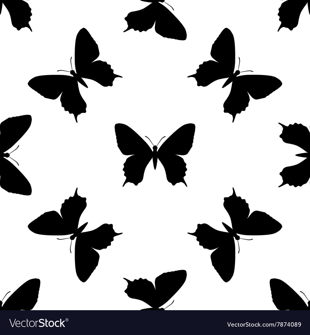 Black butterfly seamless