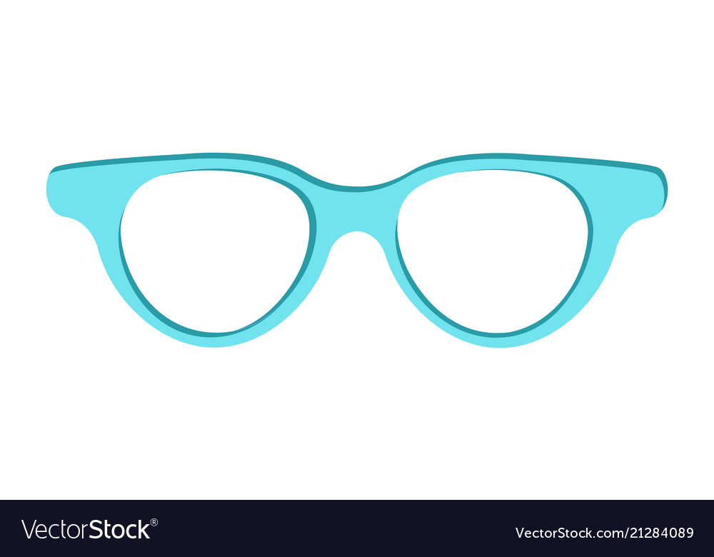 Blue sunglasses icon isolated