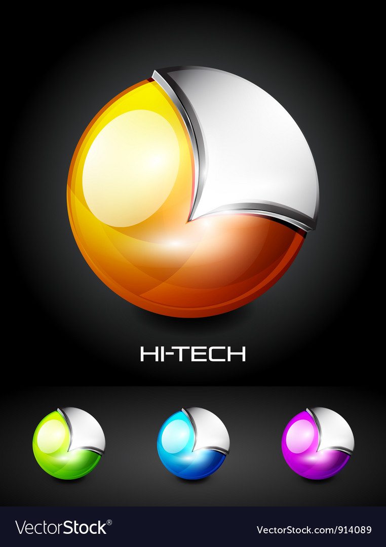 Hi-tech 3d sphere icon