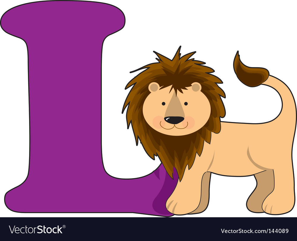L Is For Lion Vector Image