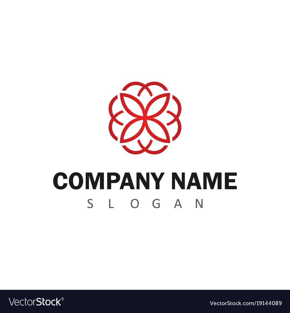 Line flower logo
