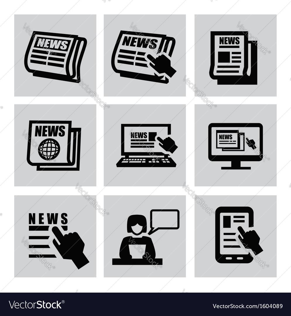 Newspaper icons