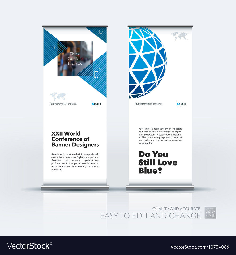 Set of modern roll Up Banner stand design