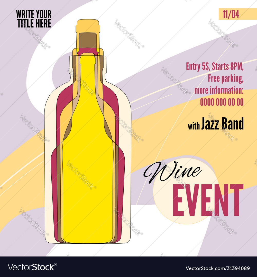 Template for wine festival event or menu covers
