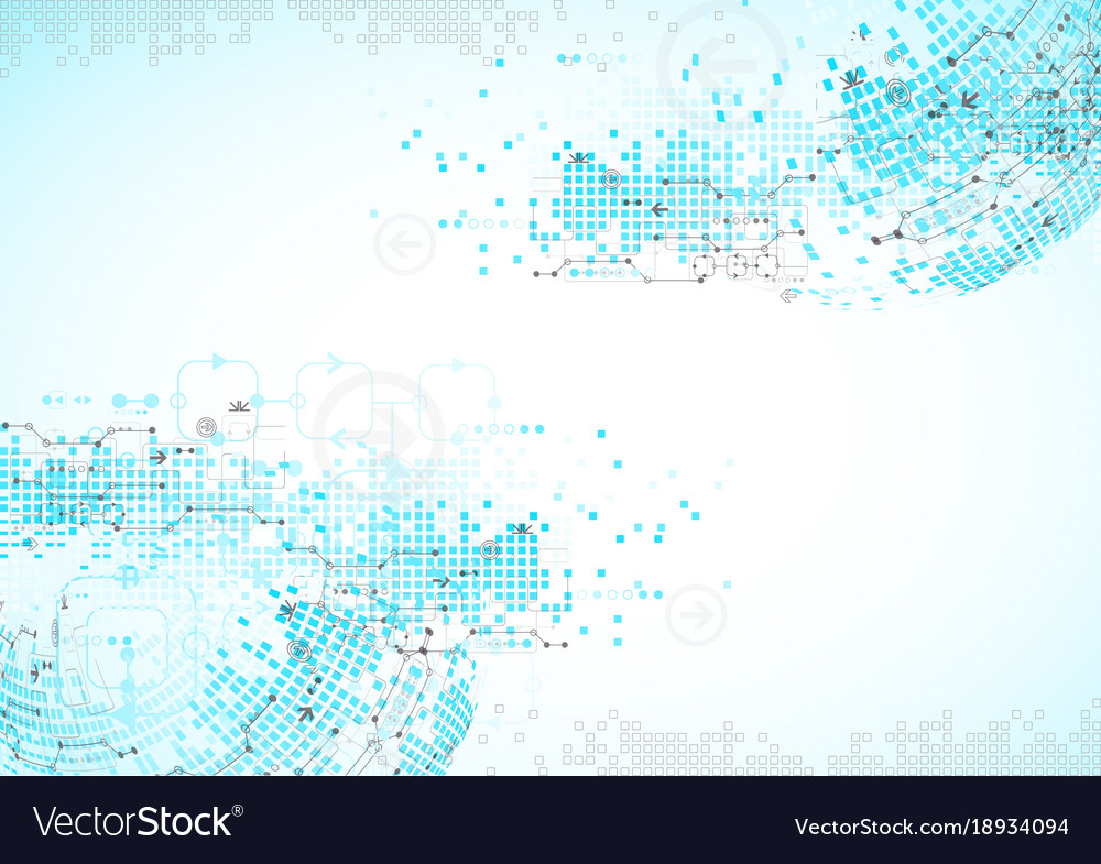 Abstract blue technology business background