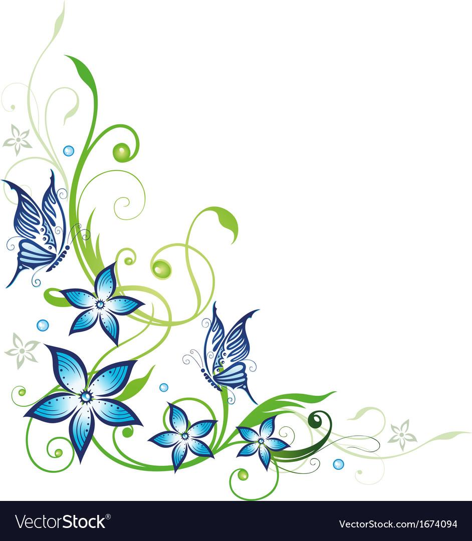 Blue flowers series