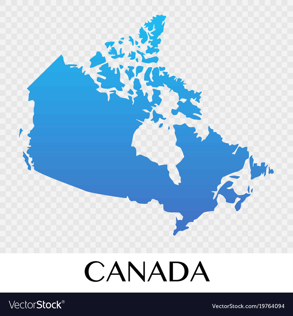 North America And Canada Map.Canada Map In North America Continent Design Vector Image