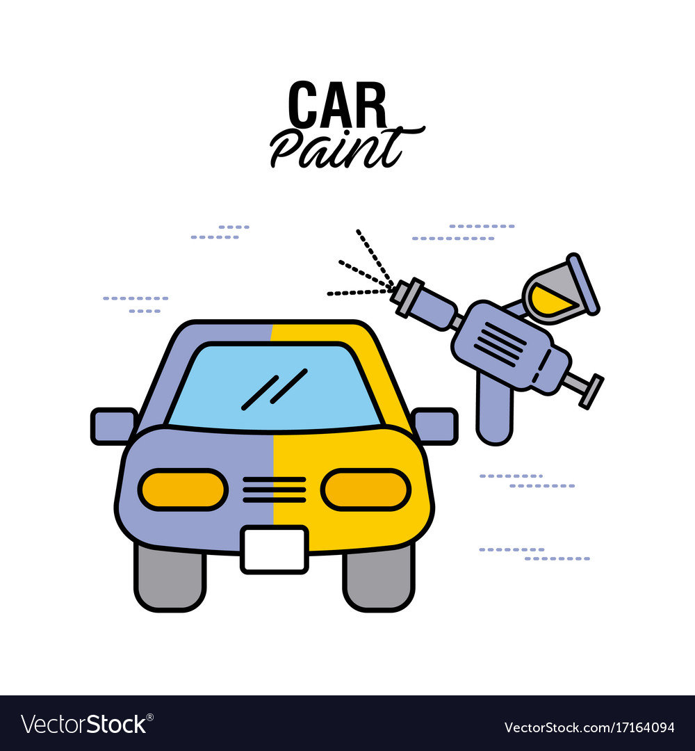 Car paint service airbrush color