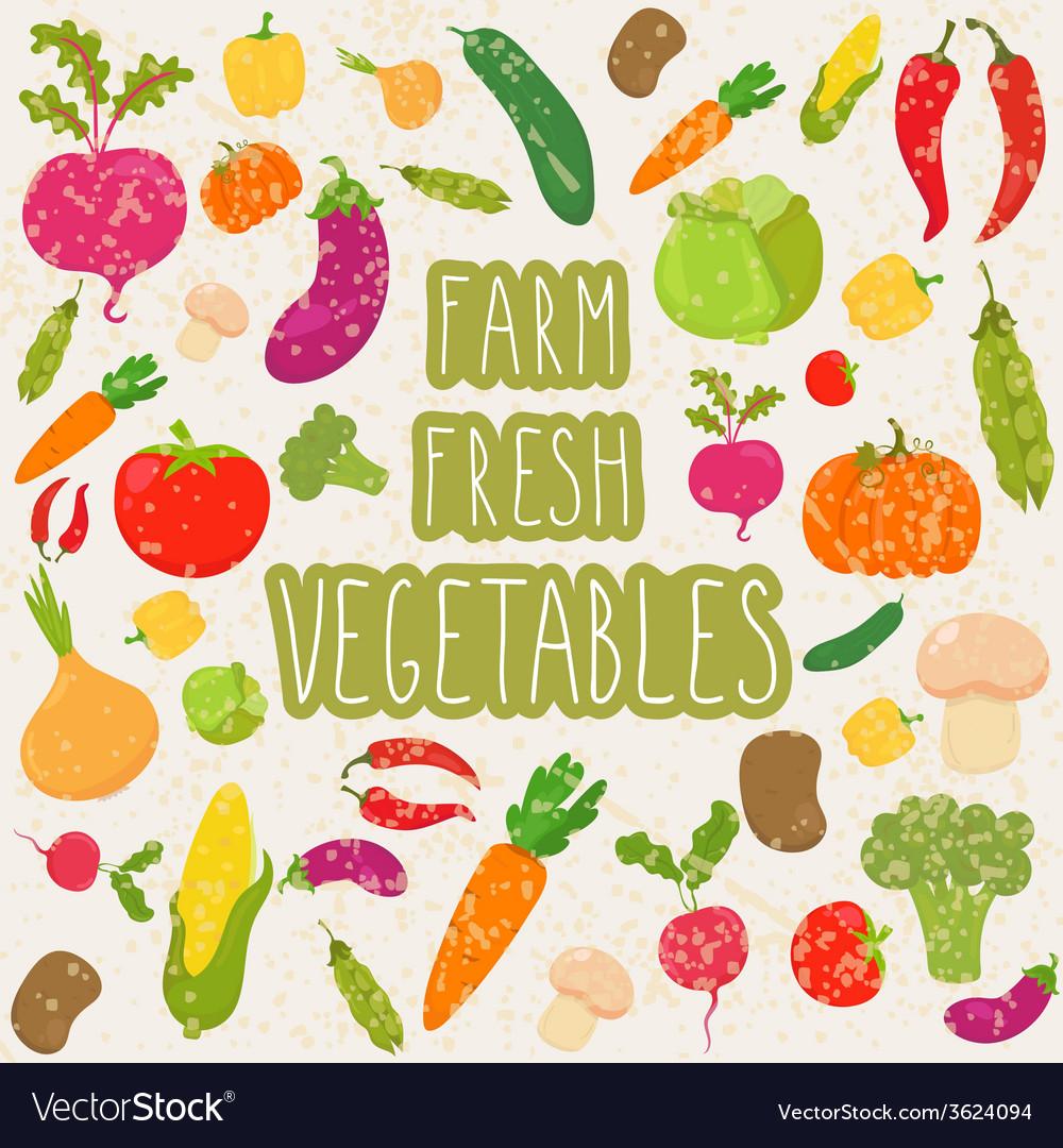 Farm fresh vegetables healthy food