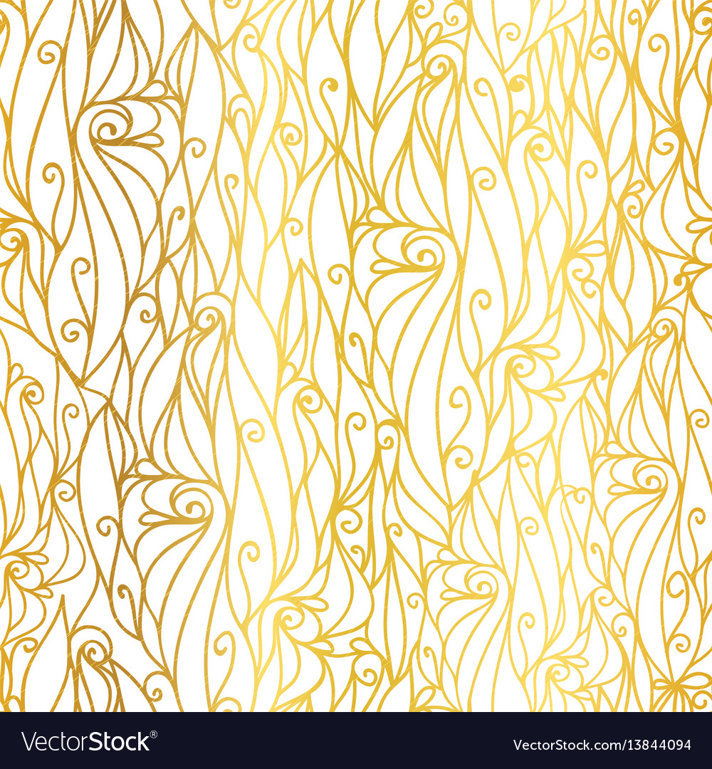 Golden White Abstract Scrolls Swirls Royalty Free Vector
