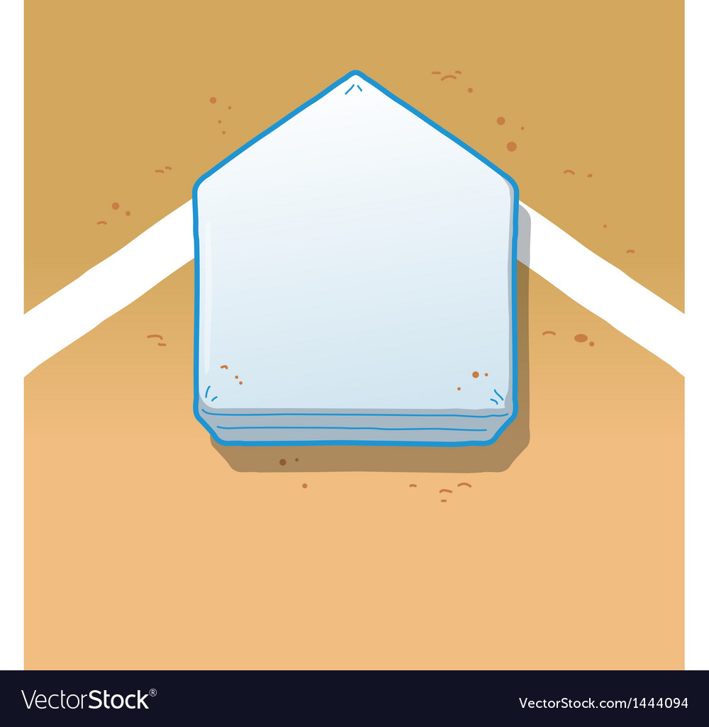 Home Plate vector image