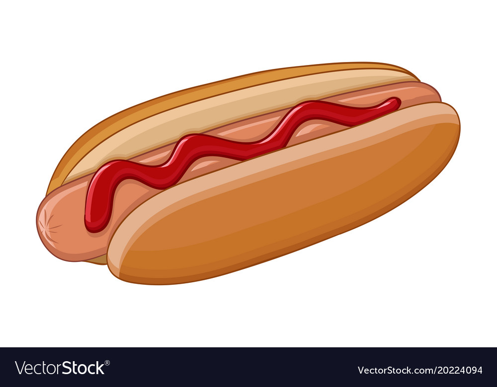 Hot Dog Colored Drawing
