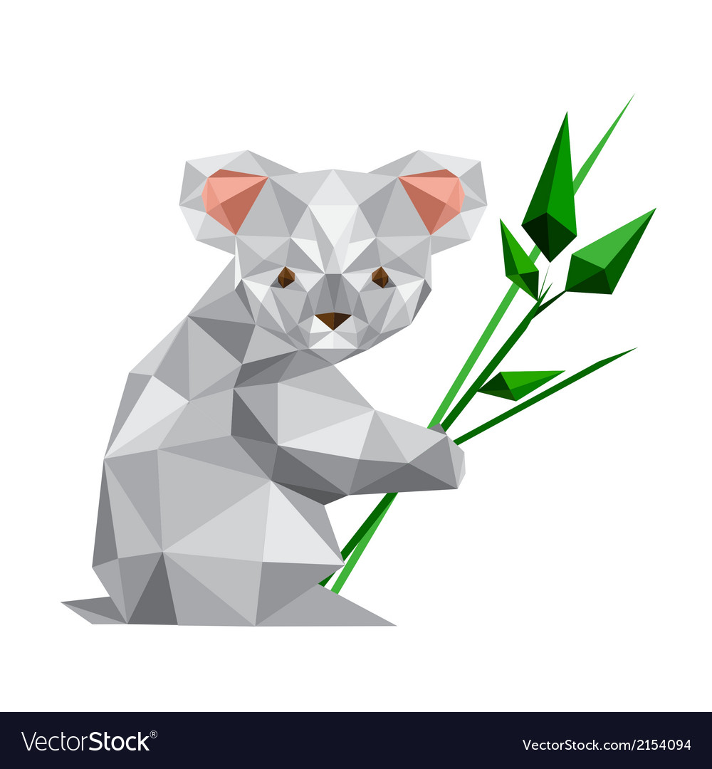 Kwoal origami koala with leaves