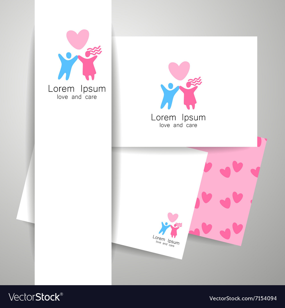 Love logo template vector image
