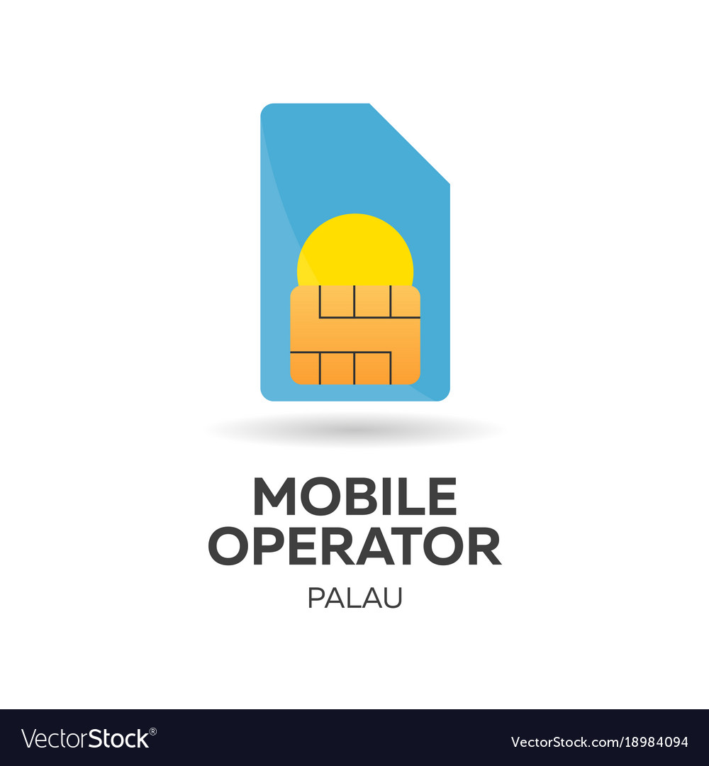 Palau mobile operator sim card with flag