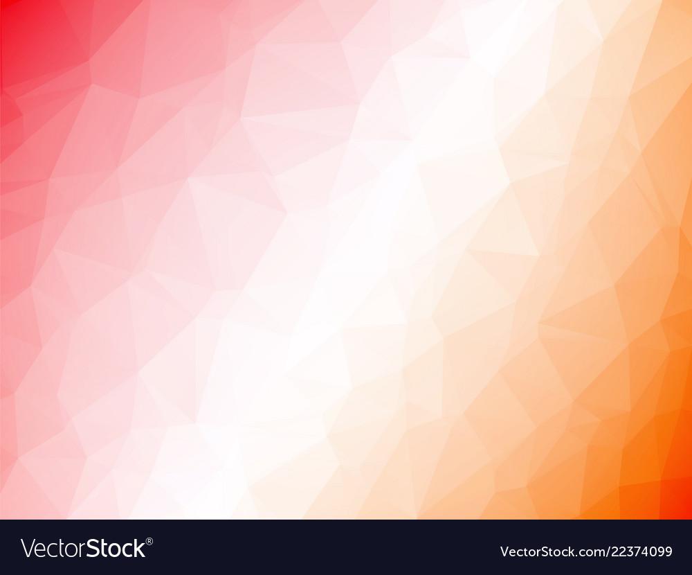 Abstract geometric orange white red triangular