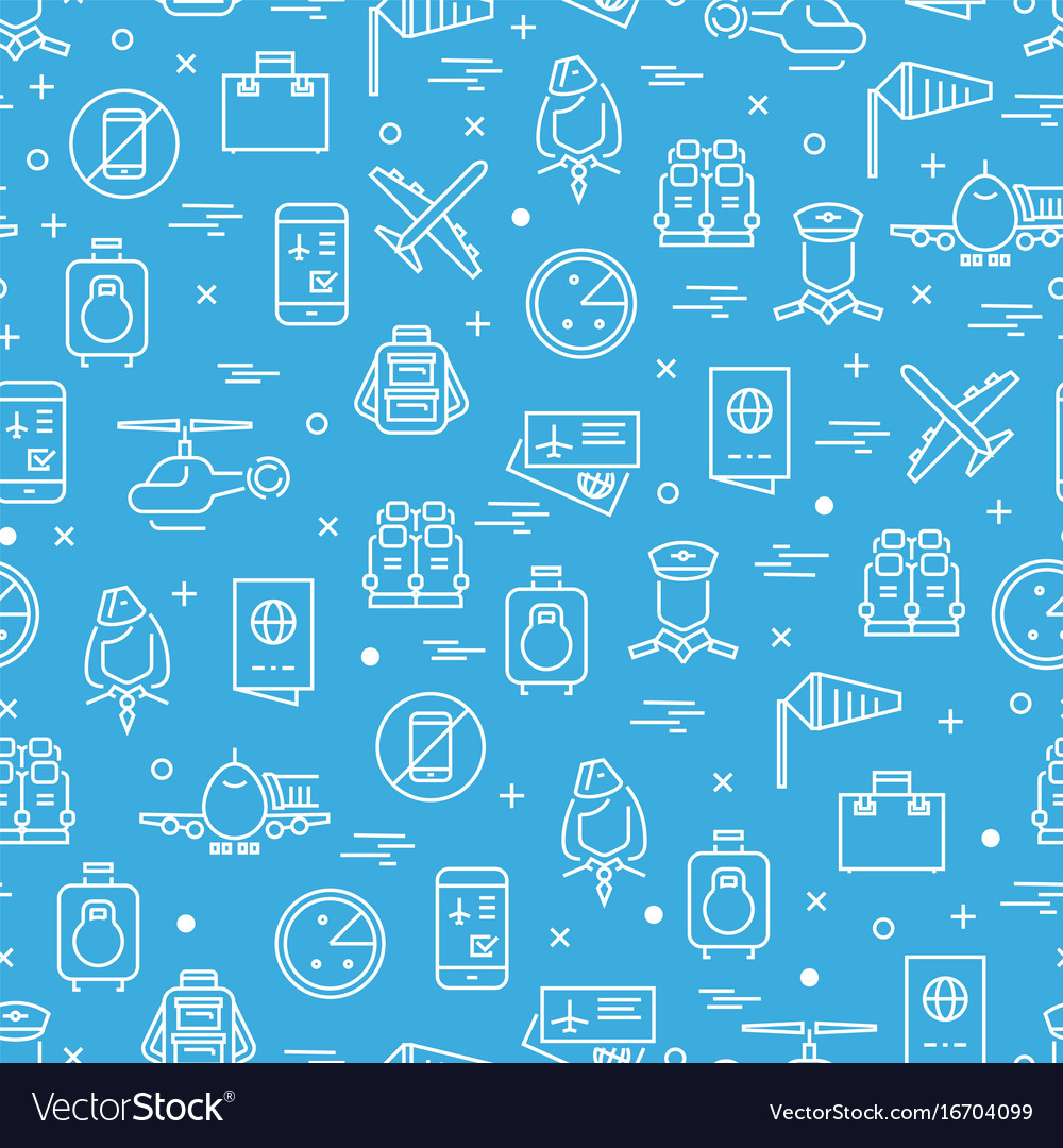 Aviation or airport seamless pattern design