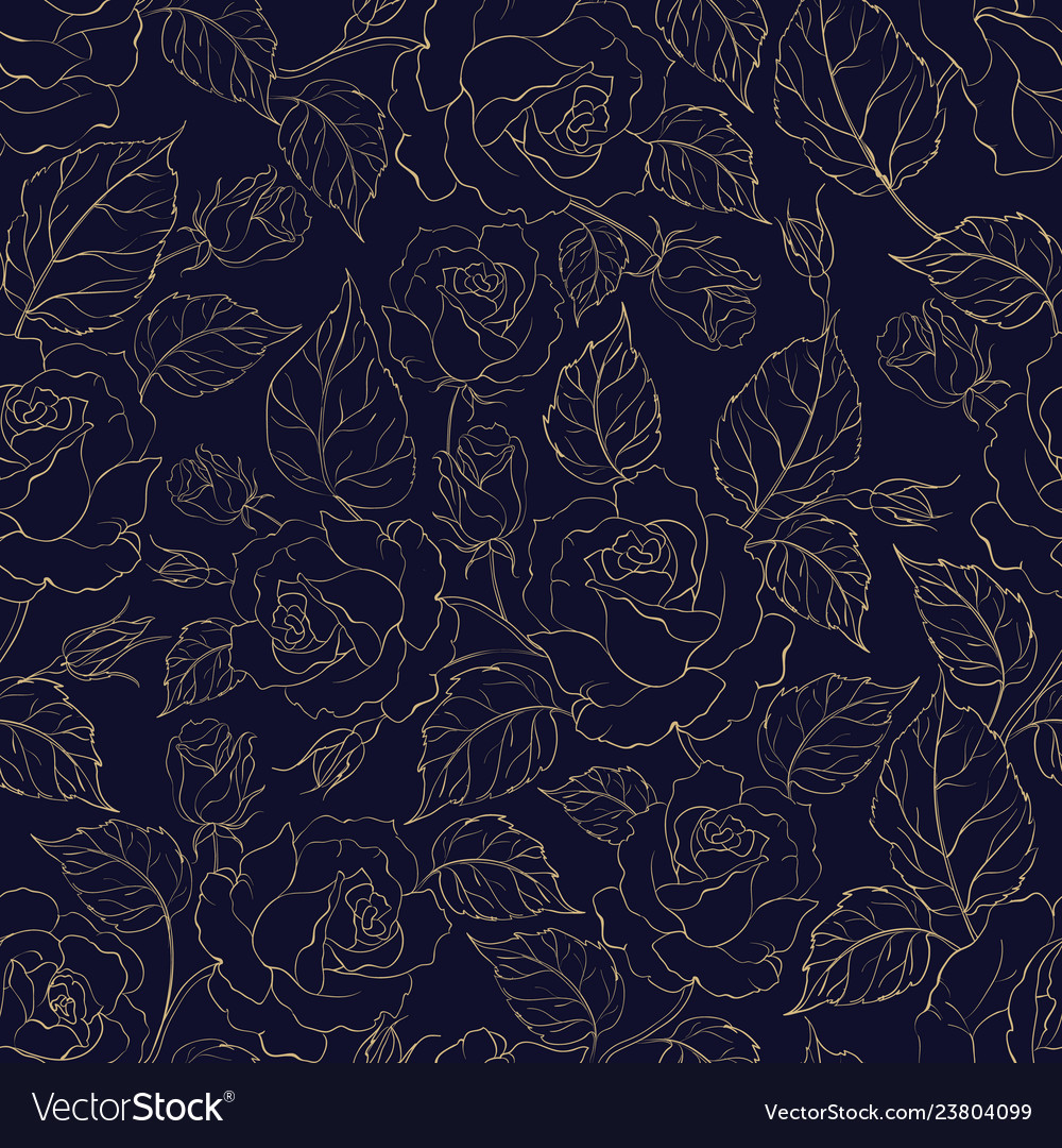 Beautiful seamless pattern of roses