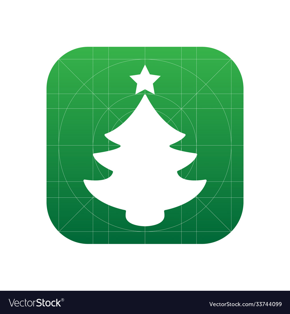Christmas tree icon sign icon tree