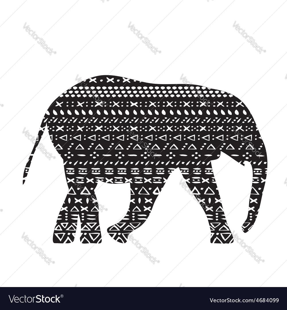 Elephant with pattern print tribal
