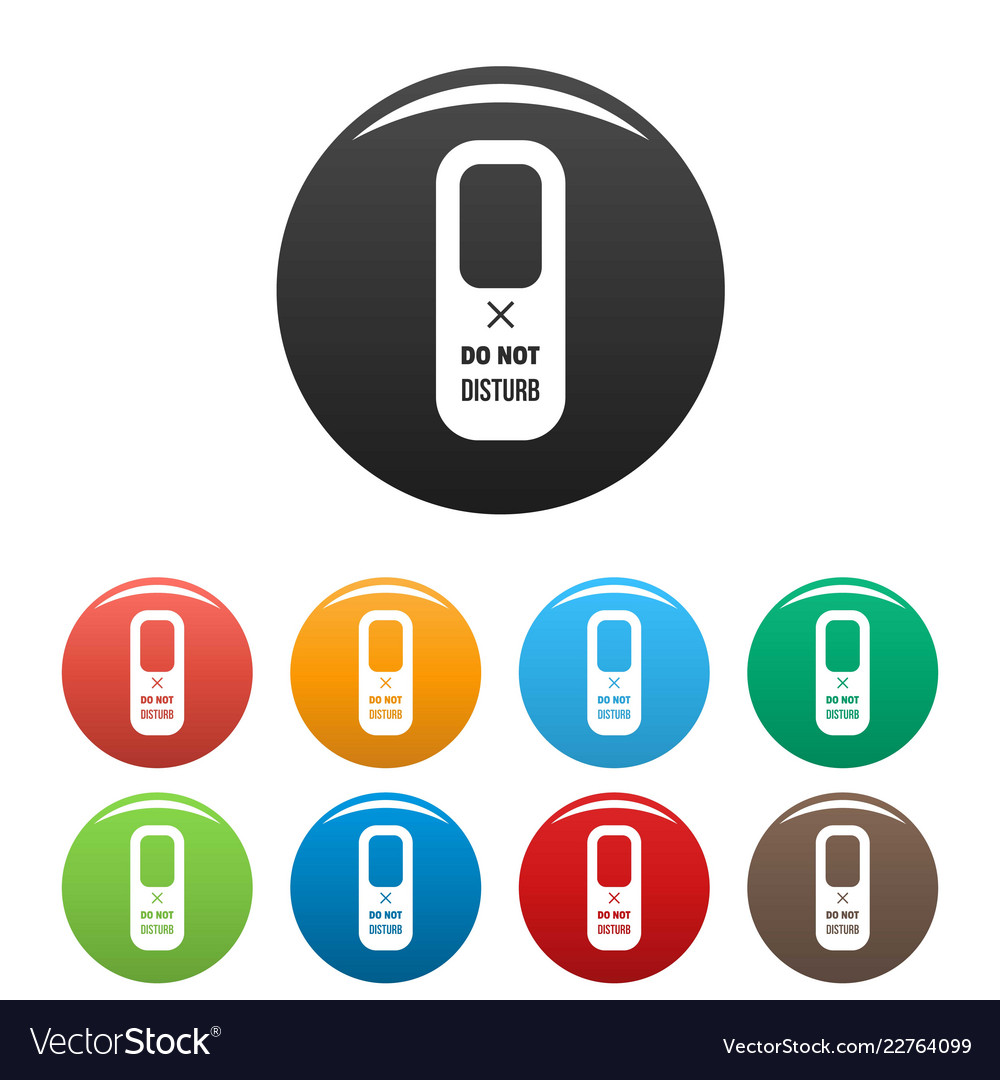 Hanger tag icons set color