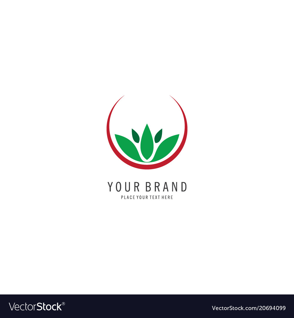 Herbal spa symbol logo