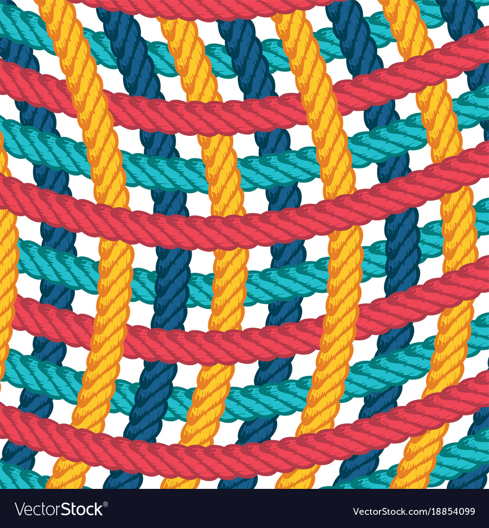 Lasso rope pattern background template Royalty Free Vector