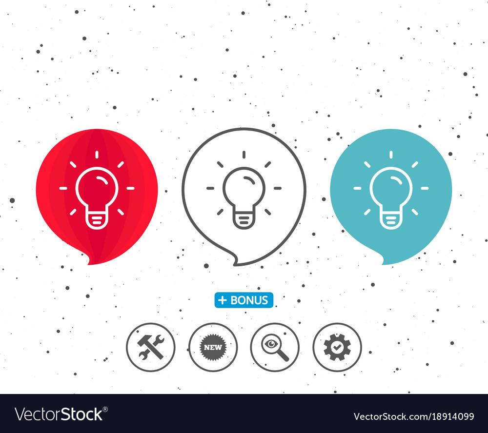 Light bulb line icon lamp sign