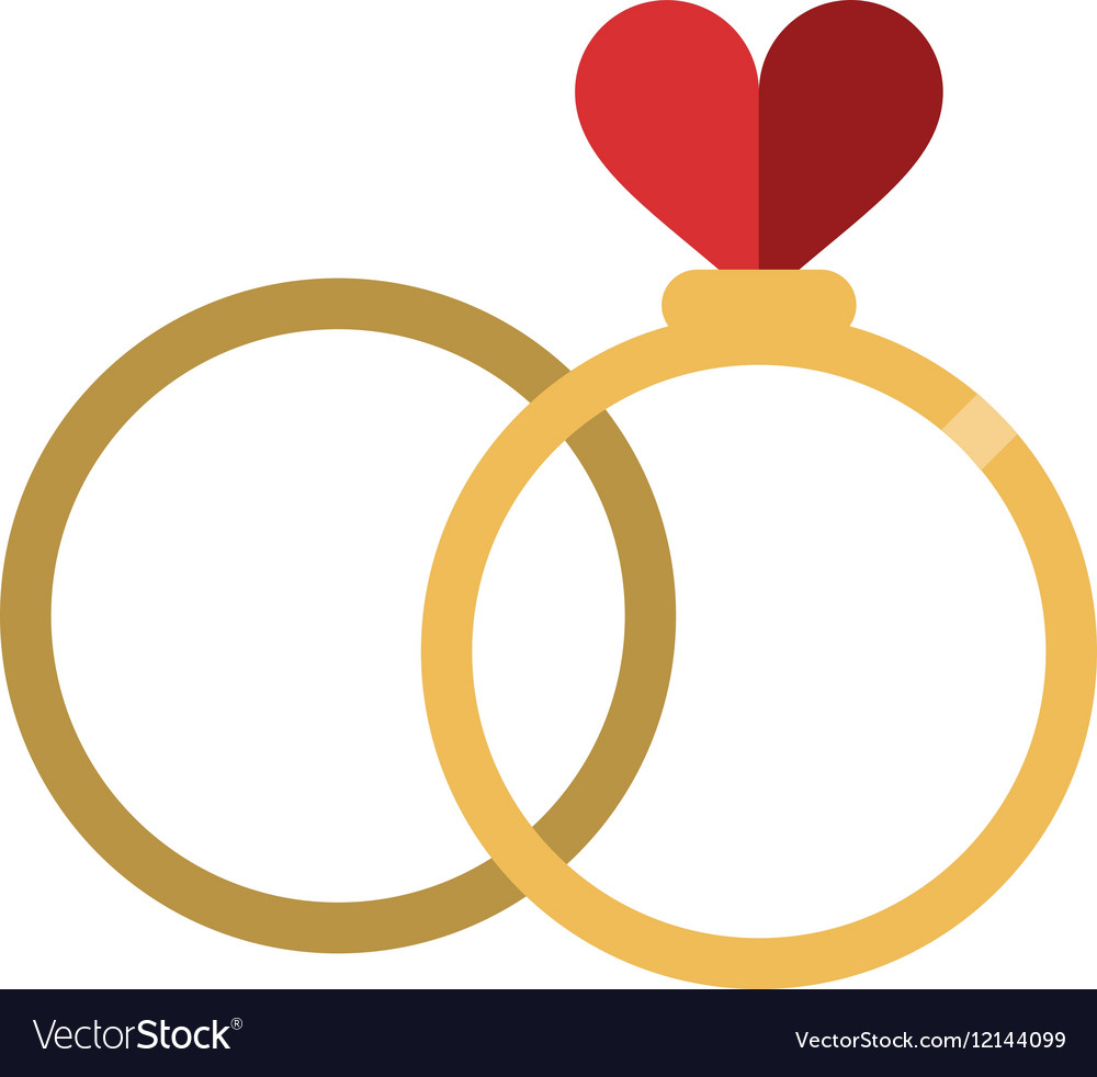 romance two rings love heart wedding symbol vector image rh vectorstock com wedding vector clip art wedding vector template
