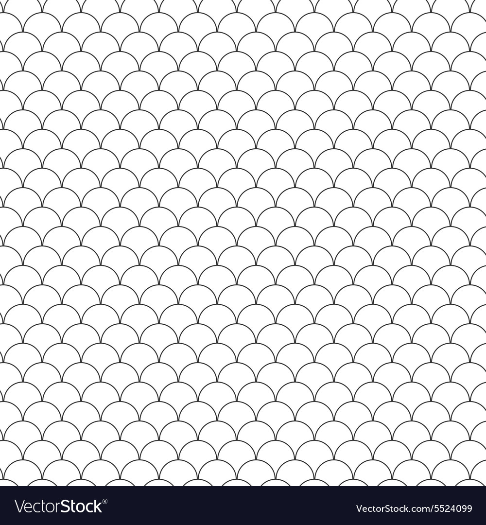 Seamless Circle Black and WhiteSea Shell Geometric vector image