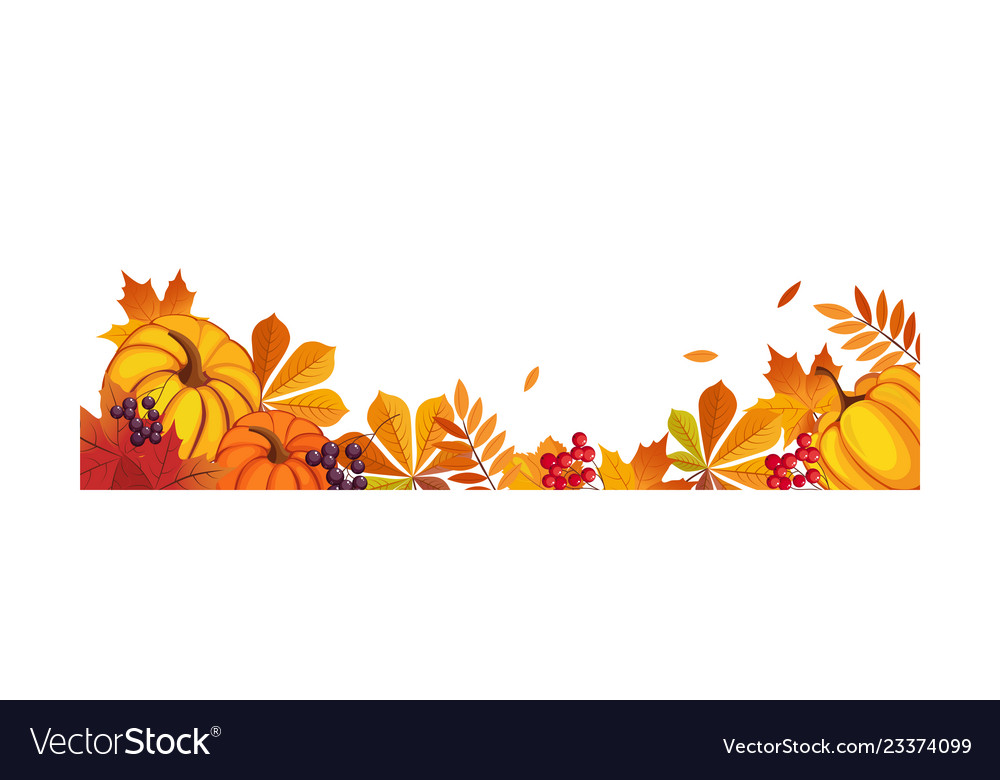 Thanksgiving banner with space for text