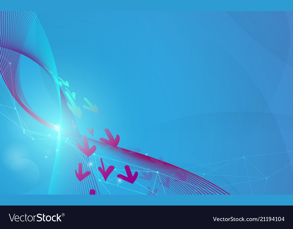 Abstract blue wavy lines and arrows futuristic