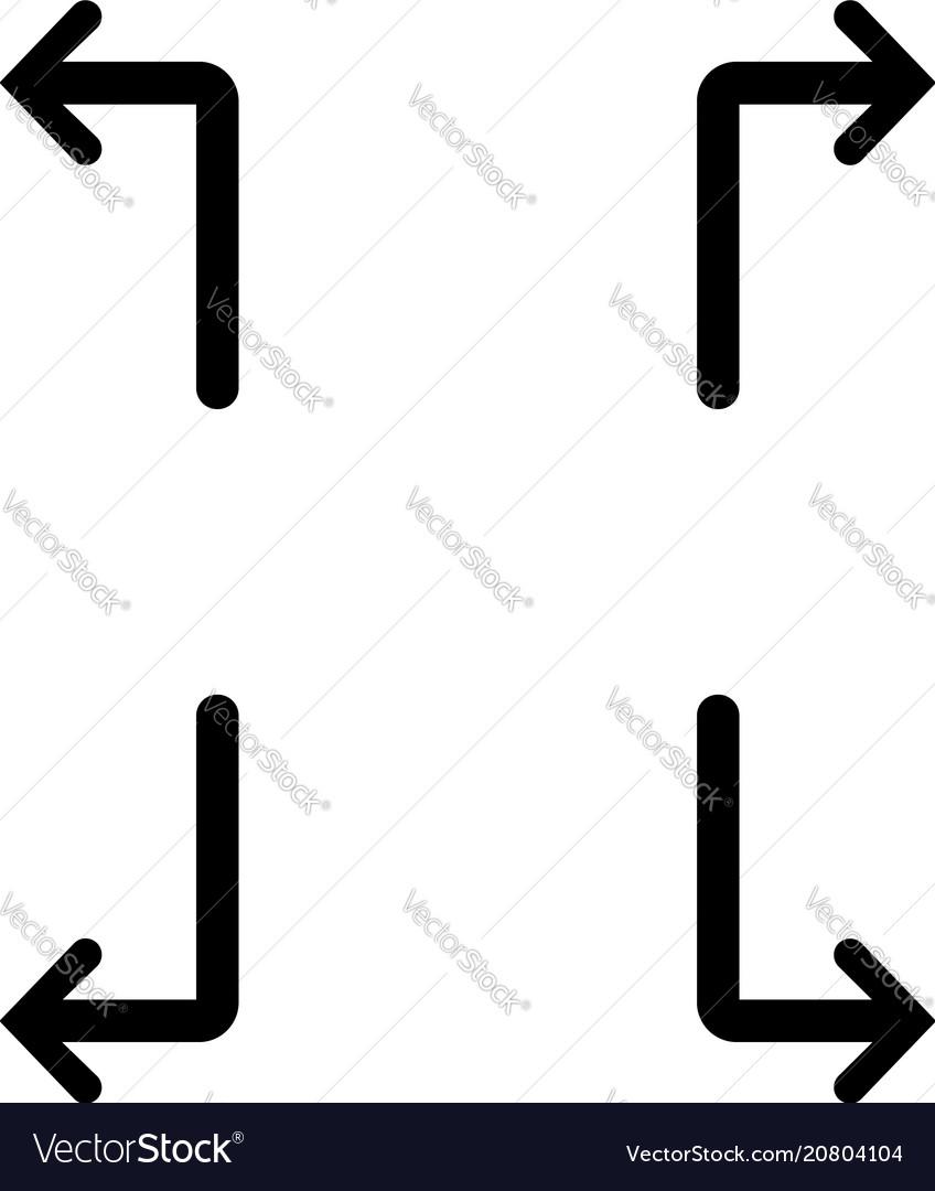 Arrows pointers icon set