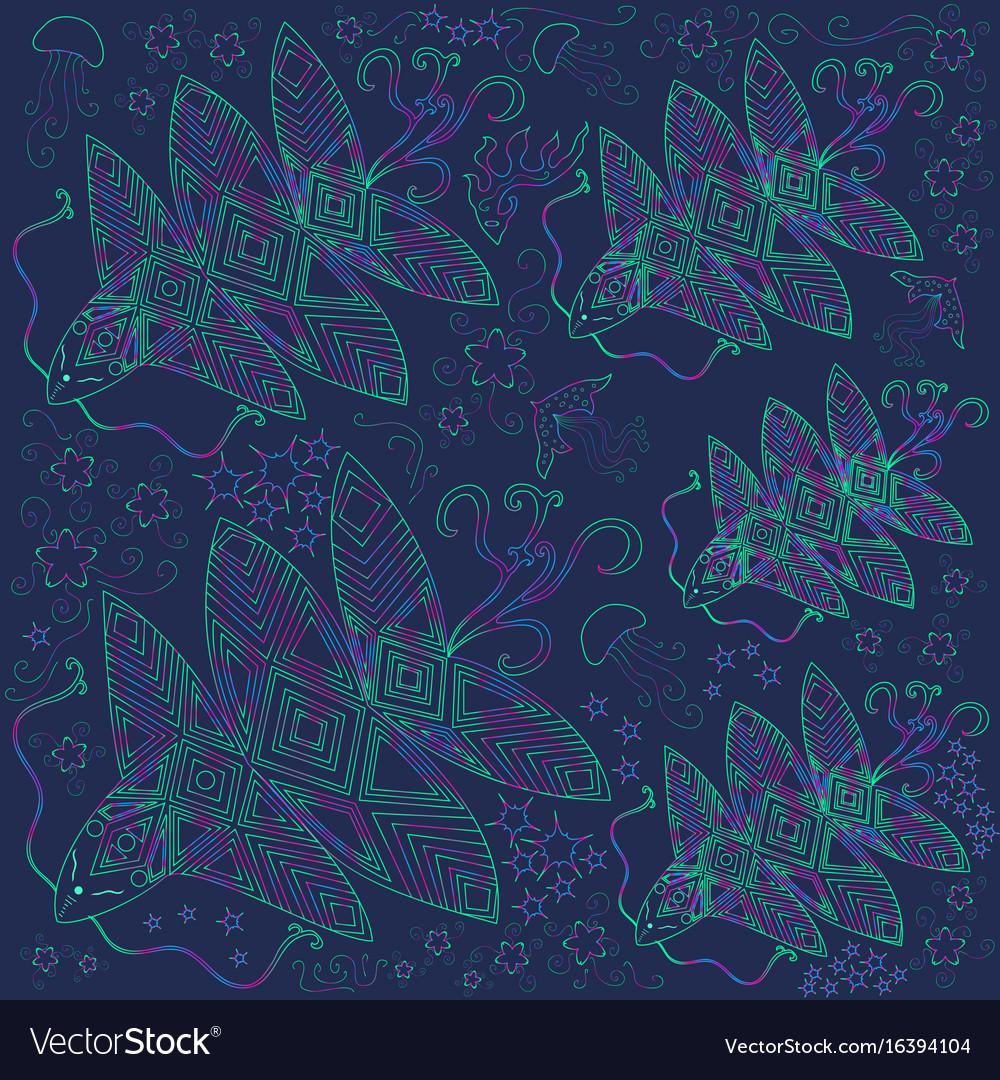 Bright beautiful banner of fantastic vector image
